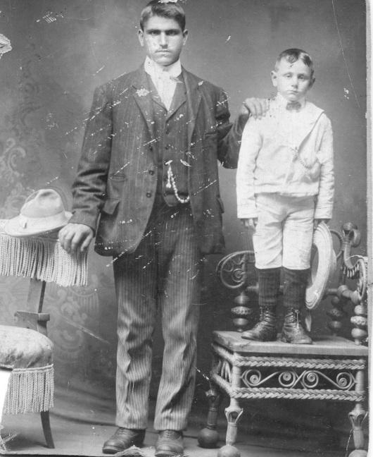 16. Carlo Salvucci and his eldest child, Antonio