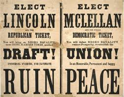 5. 1864 McClellan for President political poster