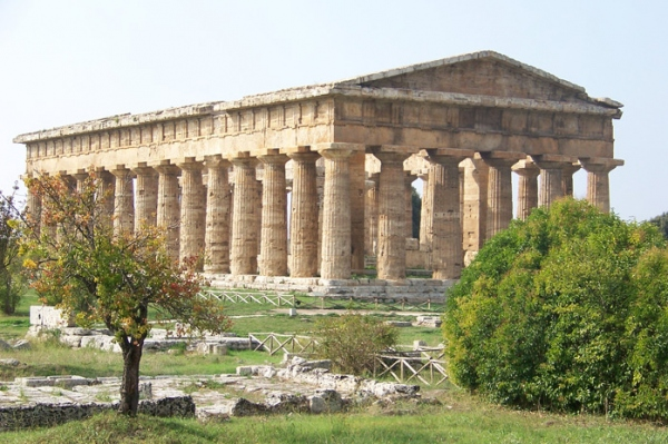 B-8 One of Paestum's Greek Temples