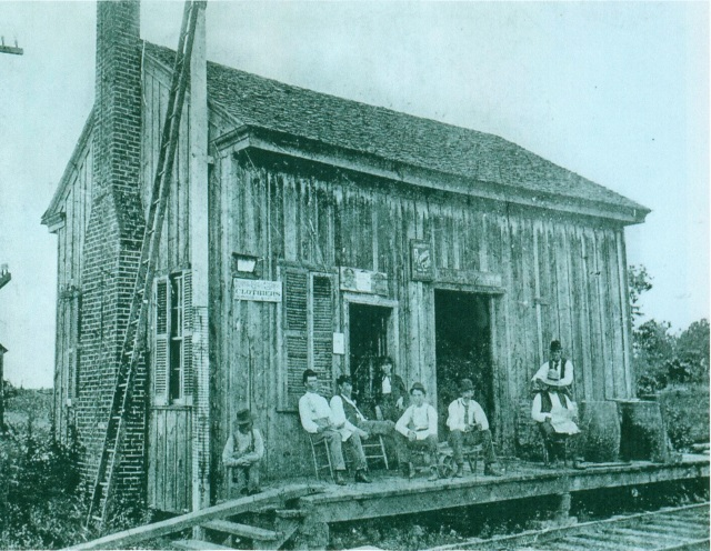 13.1870 Kennesaw Depot (presumed appearance of the 1869 Smyrna depot which stood about 200 yards north of the East Spring intersection)