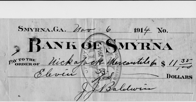 15b.Bank of Smyrna bank note 1