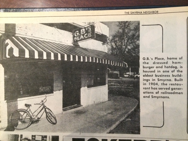 24a.G.B.'s Place Restaurant SN 1-12-76, p. 1.JPG (Marietta Daily Journal)