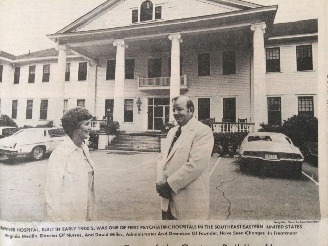 59b..Brawner Hospital with staff member and grandson of founder SN 1975