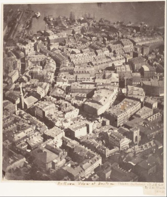 Bro-5-Aerial view of downtown Boston in 1860