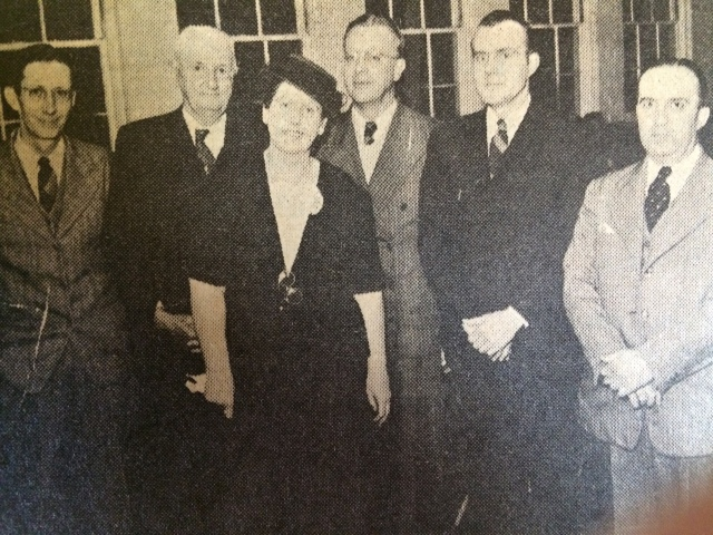 11. Mayor Lorena Pace Pruitt, with the members of the Smyrna Men's Club, 146, SH 1-31-63, p. 5-b