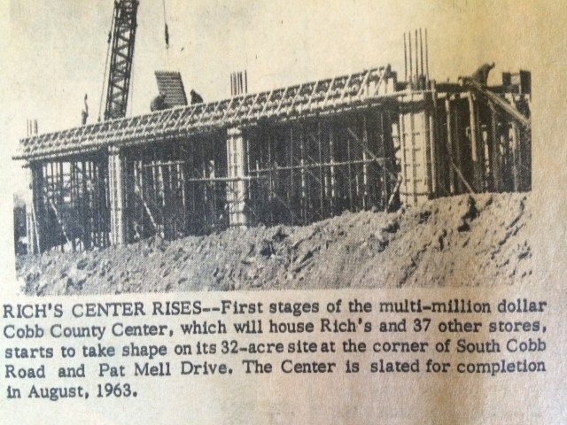 18. Rich's Department Store at Cobb Center unders construction, SH,12-20-62, p. 1