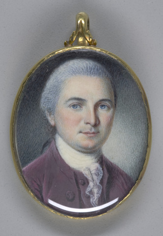 22. Peale, Miniature of George Walton, 1781