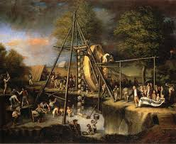 28. Peale, Exhuming the Mastodon (1808)