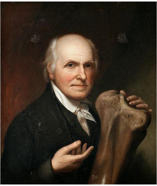 30. Peale, Self Portrait with Mastodon bones, 1824
