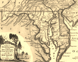 9. Map of Colonial Maryland