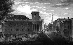 B-8. Early 19th century view of the King's Chapel Burying Ground