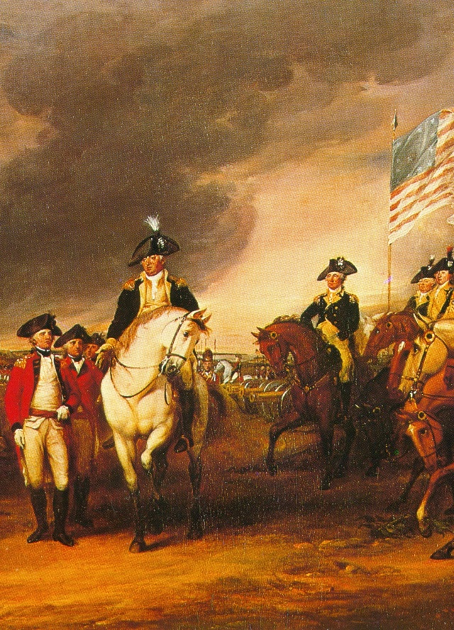 T-21. The Surrender of Cornwallis at Yorktown (detail)