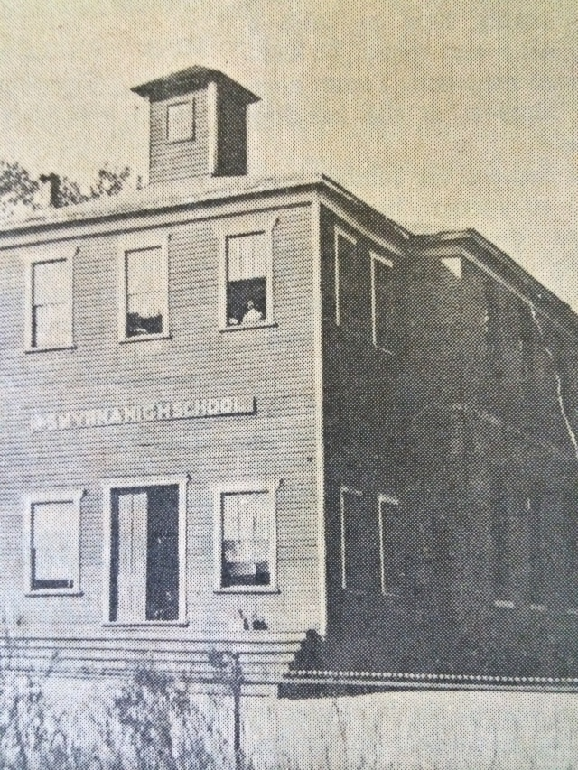 1. Academy Building showing brick main building, SH 8-22-63, p. 3