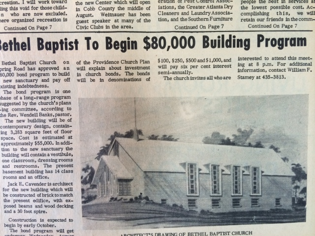 13. Bethel Baptist Church, Spring Road, SH 8-4-63