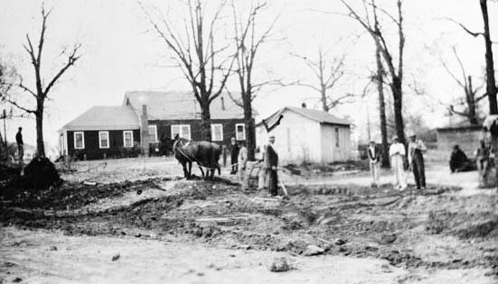 13.Breaking ground for the Sunday School Building, Smyrna Methosdist Chuch, 1934-35