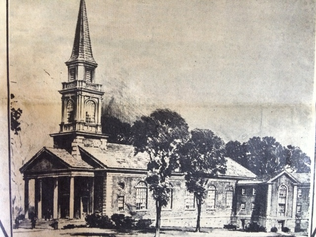 13. Engraving of the First Baptist Church at the time of its dedication, 12-6-62, p. 10