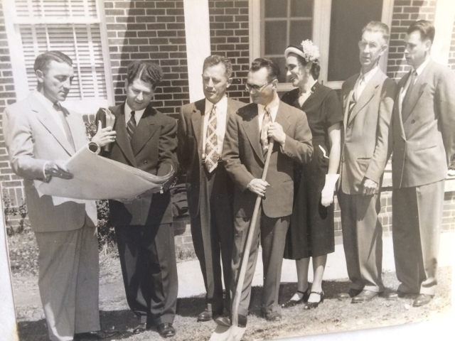 13. Ground breaking Presbyterian Church, 1953