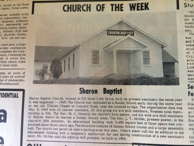 13. Sharon Baptist Church, 515 South Cobb Drive, SH 7-26-63, p. 8bIMG_0708