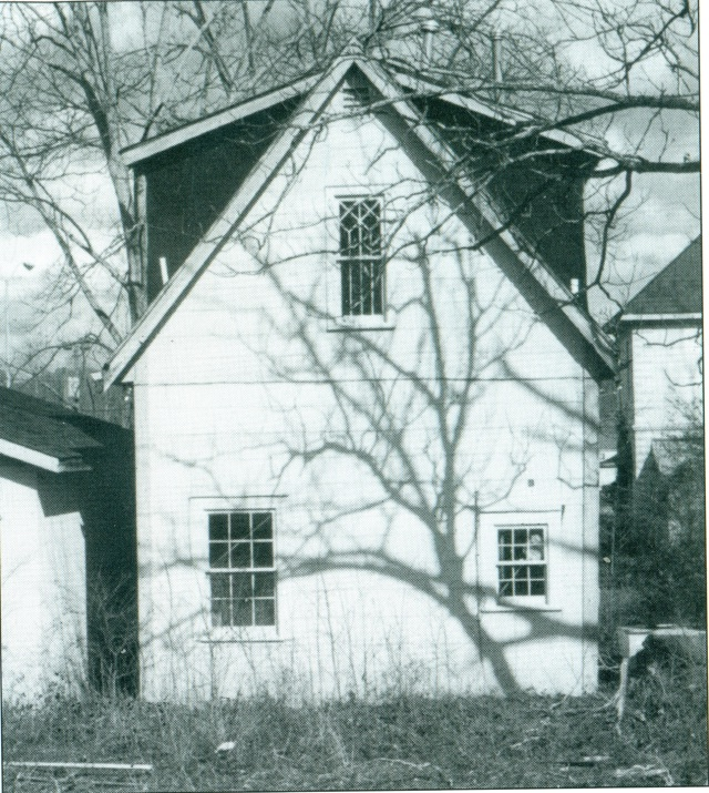 13. The only surviving portion of the 1883 Methodist Church stands behind the Gautschy house.