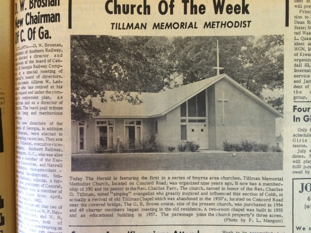 13. Tillman Memorial Baptist Church, Concord Road, SH 7-4-63 p. 13