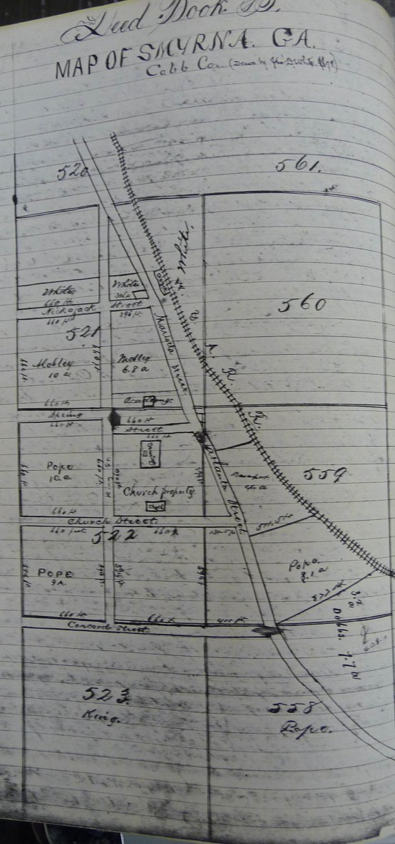 1a.Map of Downtown Smyrna - 1872