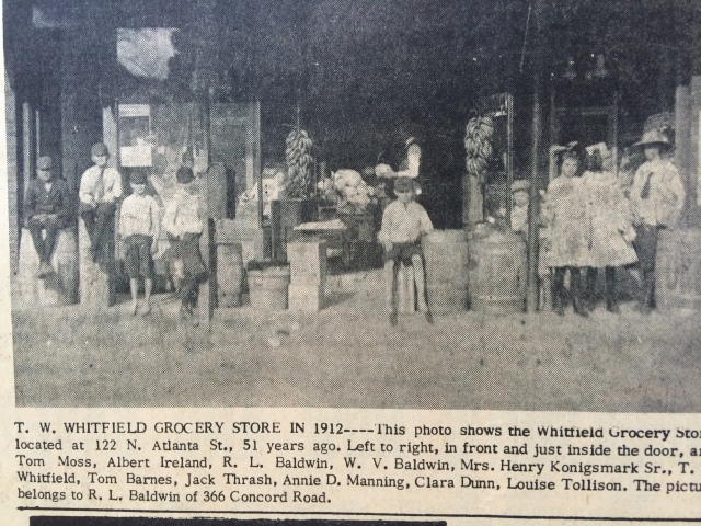1ca. Whitfield Grocery Store, downtown Smyrna, SH 12-12-63, p. 2-b