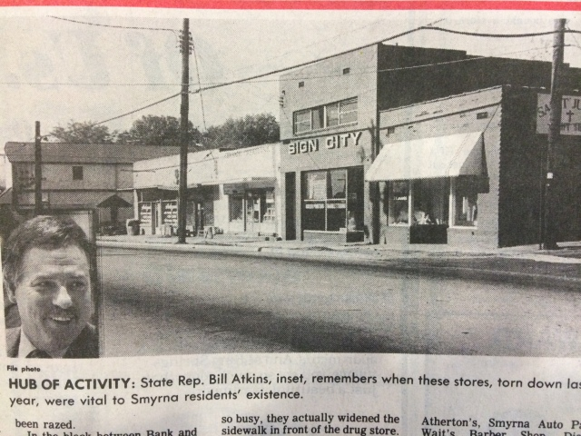 20. Downtown Smyrna c. 1960 (Bill Atkins interview) SN 1-18-90, p. 2a
