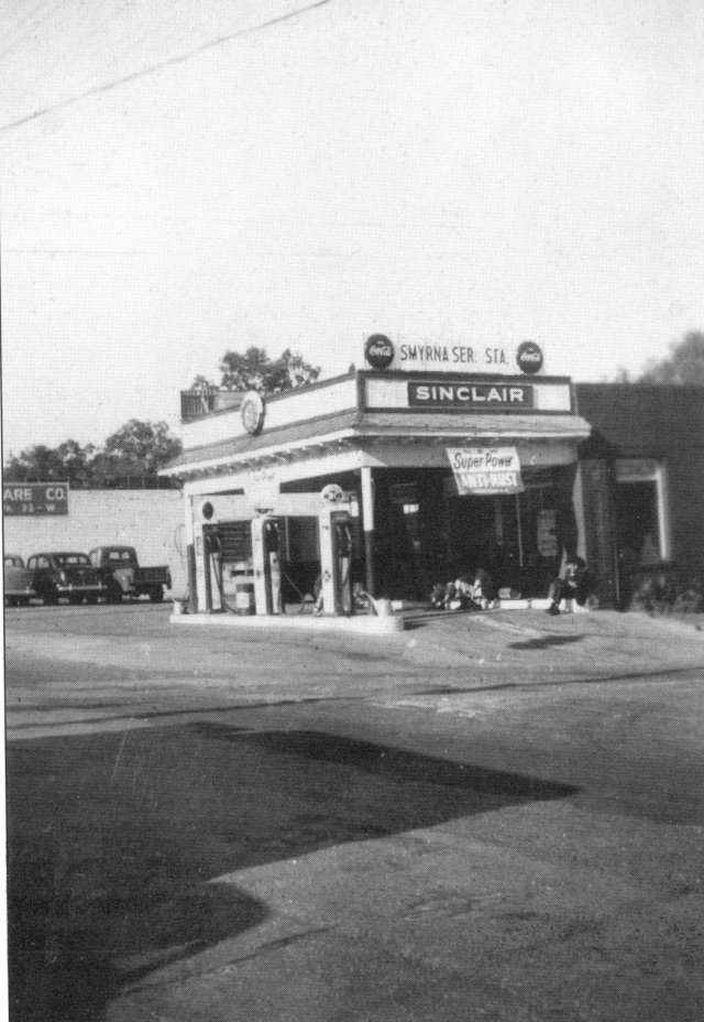 20. Fouts Service Station, ne corner Atlanta Road and East Spring Street