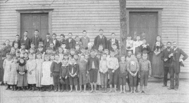 22. Mr. Mizell's School, 1895, first floor of old Masonic LOdge bulding, on site of Second Baptist Church, corner of Atlanta Road and Powder Springs Street