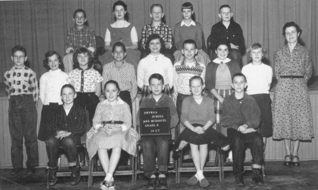 22. Smyrna School, 6th grade, 1957, Mrs. McDaniell, teacher