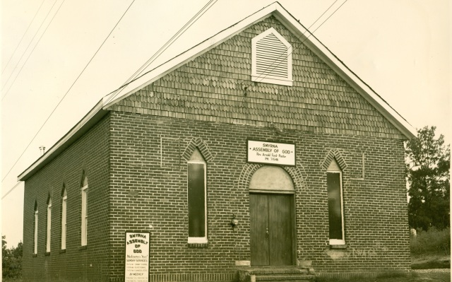 31a. Remodeled Mt. Zion CHurch as Assembly of God Church, Hawthorne St., 1954