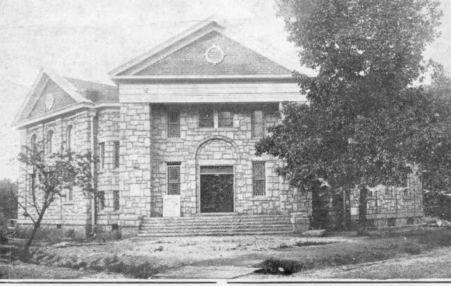 51. The 1924 First Baptist Church; the so-called Stone Church, the present First Baptist Church chapel