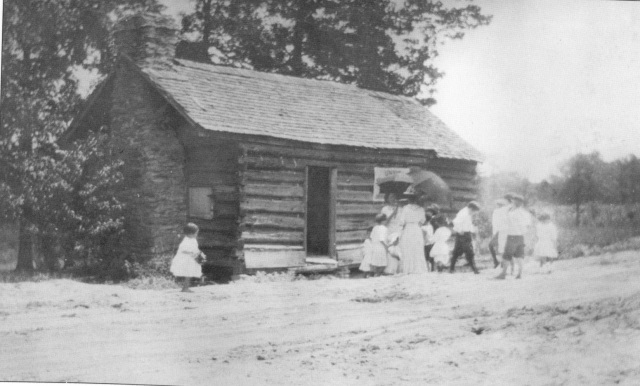 60. Log Cabin Sunday School, original building, 1912