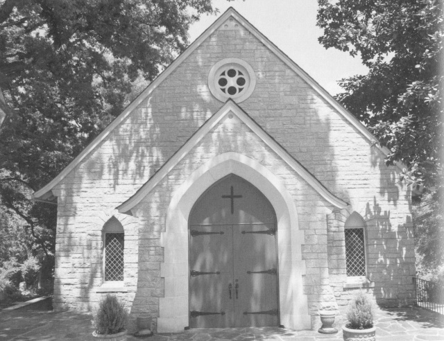 60. Stone Chapel at Log Cabin Church site, 1949