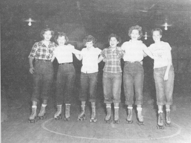 74. Smyrna High School girls at B&H Skating Rink on Access Road (South Cobb DRive), cc. 1951