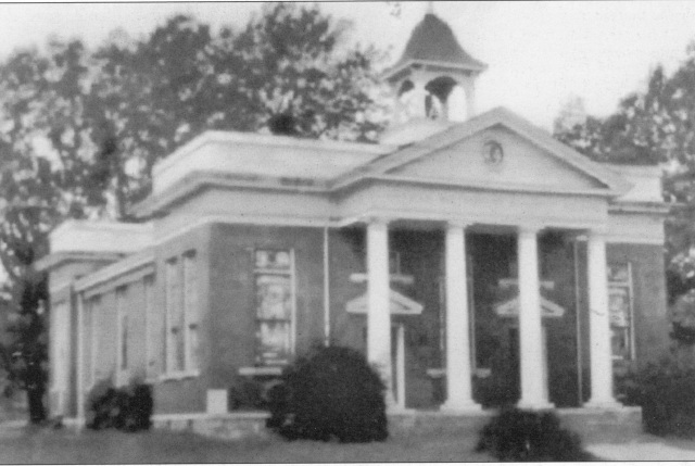 The handsome 1911 United Methodist Church building, situated at the northwest cormer of Alanta Road and Church Street, at the southern end of the old downtown copy