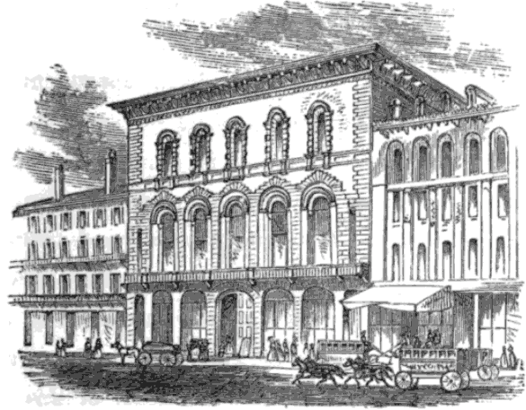 Warren's Floral Saloon, nos 1&2 Tremont Temple Baptist Church, Boston, 1845