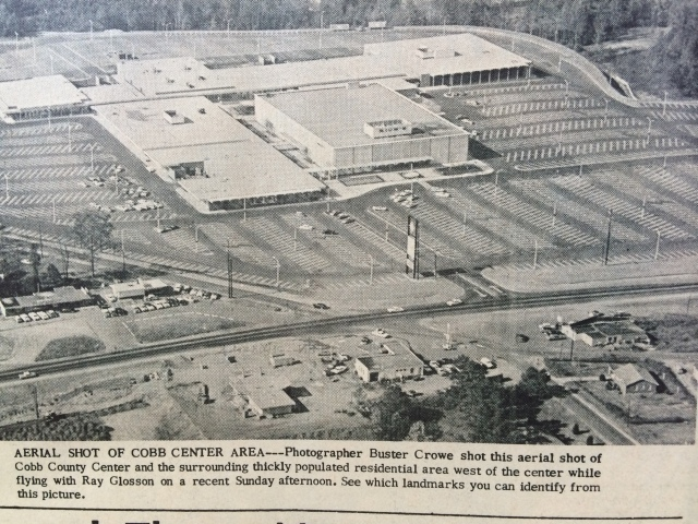 12. Aerial shot of the Cobb Center area, SH 12-5-63, p. 4-b