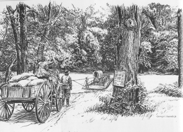 2. Pace's Ferry on the Chattahoochee, by the 1830s
