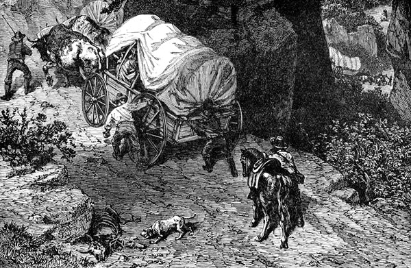 3. Portage Wagon on Mountain Trail