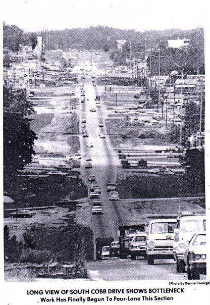 41. South Cobb Drive, foue lane work on