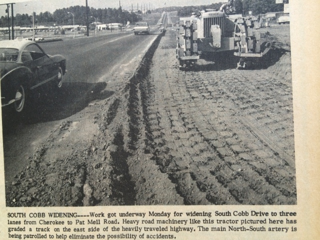 41. South Cobb widening to three lanes from Cherokee to Pat Mell, SH 10-24-63, p. 1