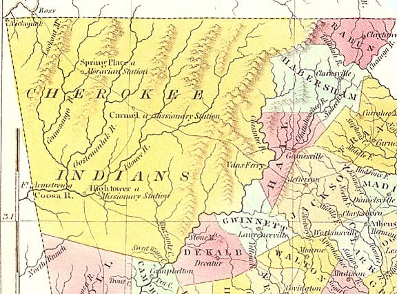 5.Cherokeenation1830map