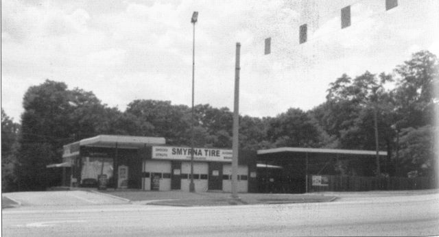 53. Smyrna Tires, corner of Powder Spring and South Cobb, est. 1973 1