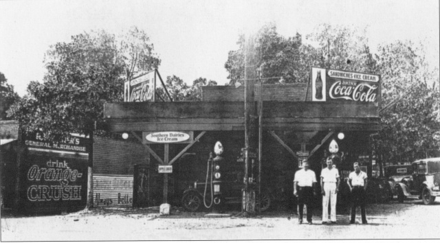 62. Glover's Store, Atlanta Road at Camp Highland Rd., Oakdale, 1930