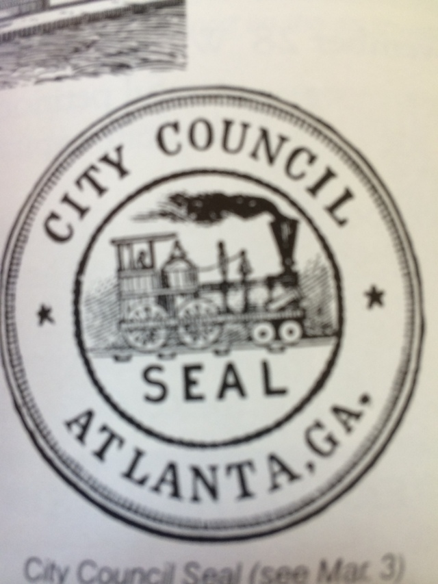 7.Atlanta City Council Seal with railroad motif