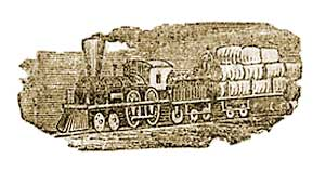 7. Railroad transporting cotton