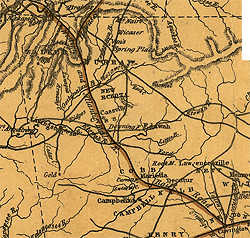 7.Western & Atlanta Railroad, 1839 map
