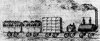 7.Western & Atlantic train carrying cotton bales to market