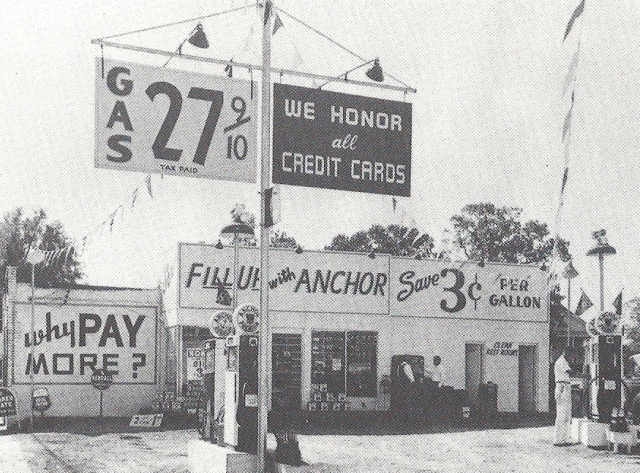 9.Anchor Service Station in downtown Smyrna, c. 1960